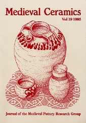Medieval Ceramics 19, 1995